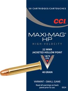 CCI .22 Magnum 40 gr. HP