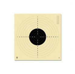Schietkaarten Kruger 25/50mtr. Sportpistool met sleuven #3100S