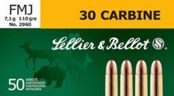 Sellier & Bellot .30M1 110 gr. FMJ